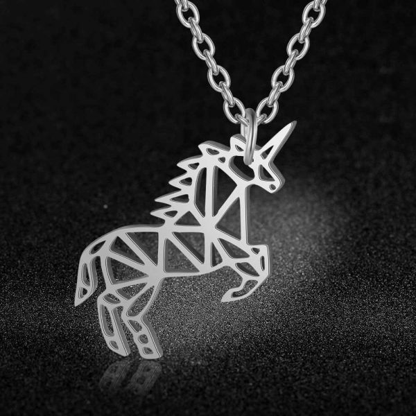 necklace unicorn women 40 cm adjustable not dear