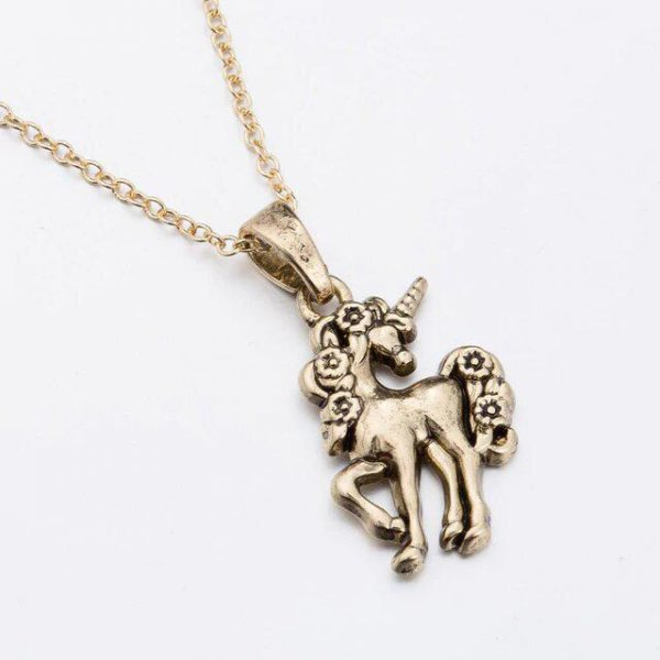 necklace unicorn women in gold gold price