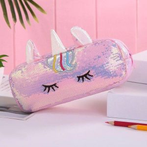 pencil case glitter unicorn girl not dear