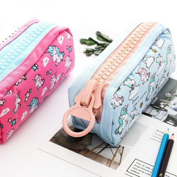 pencil case school unicorn pink buy