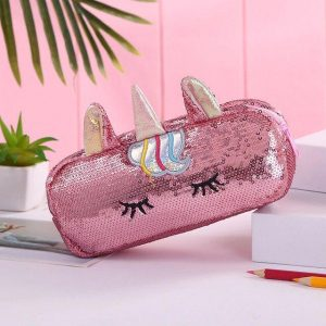 pencil case school unicorn pink price