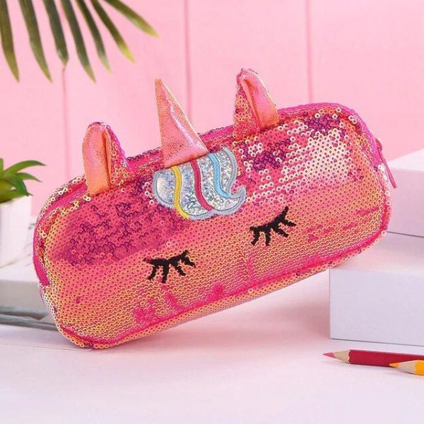 pencil case school unicorn red at sell