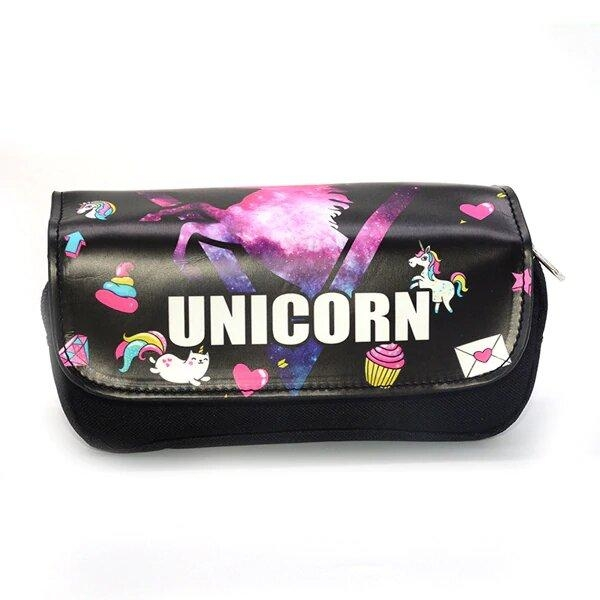 pencil case unicorn 2 compartments at sell