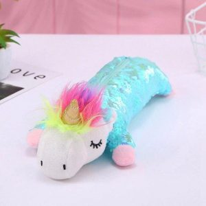 pencil case unicorn glitter blue not dear