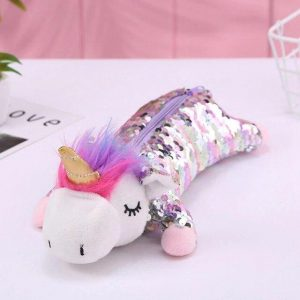 pencil case unicorn glitter kawaii