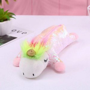 pencil case unicorn glitter pink buy