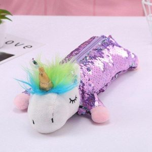 pencil case unicorn glitter violet cover of quilt unicorn 220x