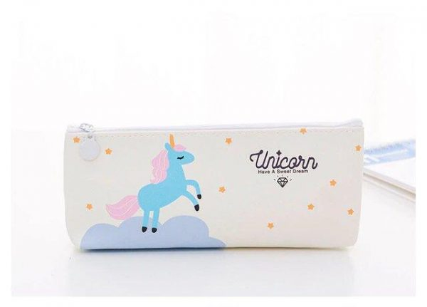 pencil case unicorn white at sell