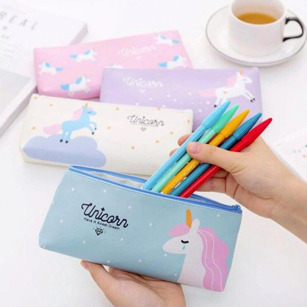 pencil case unicorn white buy