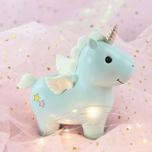 piggy bank unicorn blue unicorn toys store