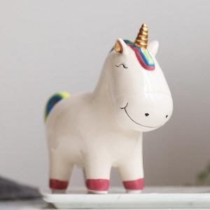 piggy bank unicorn white not dear