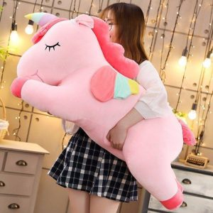 plush unicorn pink 80 cm price
