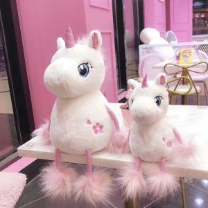 plush unicorn pompom 60 cm buy