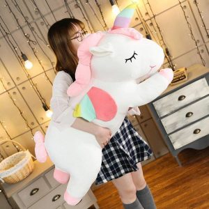 plush unicorn white 80 cm