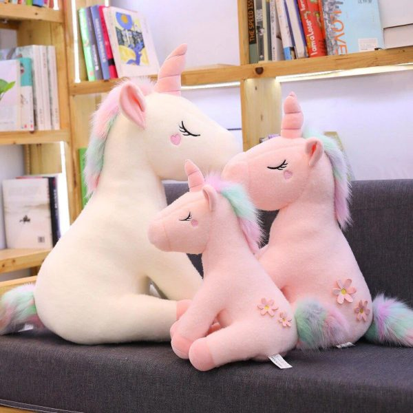 plush unicorn white and pink 1 meter pink not dear