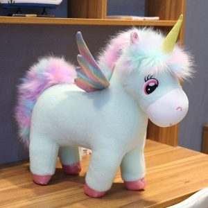 plush unicorn with large eyes 75 80 cm price