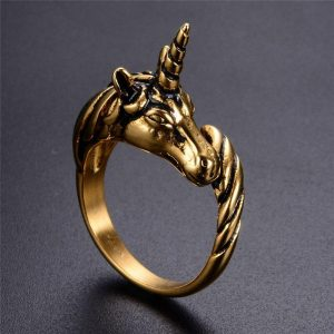 ring unicorn vintage gold 69.7 not dear