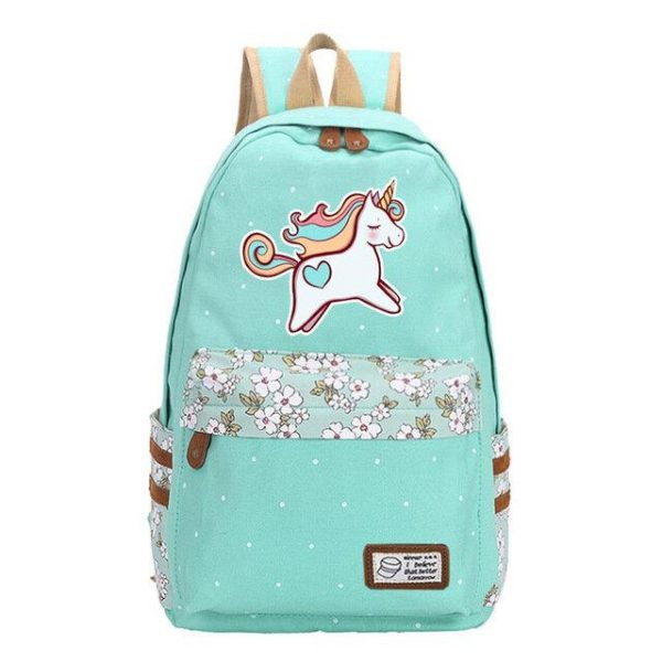 school bag unicorn multicolored green pastel buy
