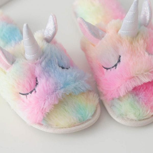 slippers unicorn bow in sky 39 41 price