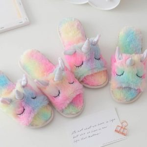 slippers unicorn bow in sky 39 41 to sell