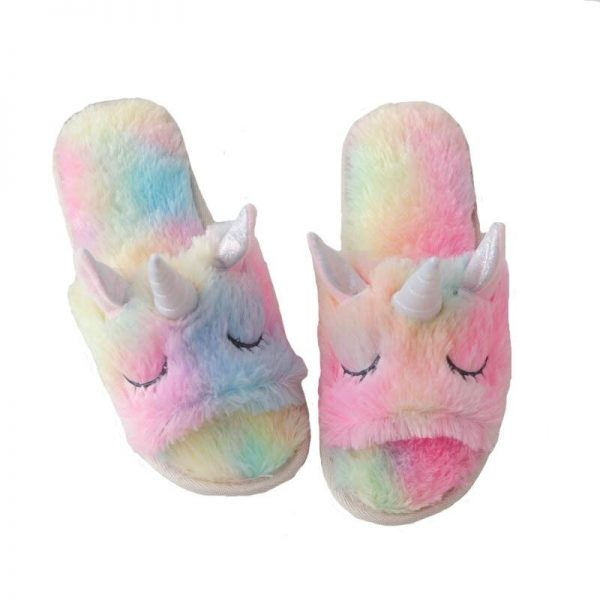 slippers unicorn bow in sky 39 41 unicorn bow in sky