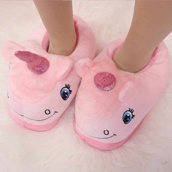 slippers unicorn child pink 45