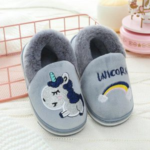 slippers unicorn grey child 26 no dear