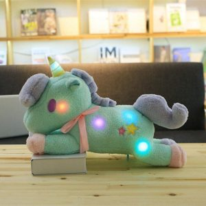 small plush unicorn green bright 55 cm