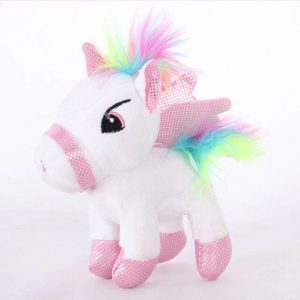 small plush unicorn white 25 cm
