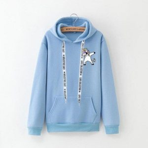 sweat blue dab unicorn xxxl not dear