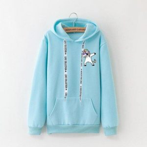 sweat blue sky dab unicorn xxxl