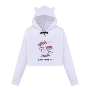 sweat crop top unicorn dab just dab it xxl at sell