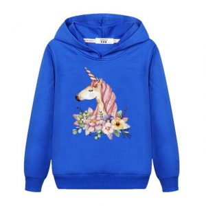 sweat unicorn child blue 14 years old price