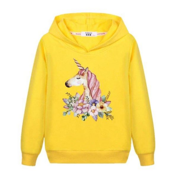 sweat unicorn child yellow 14 years old buy