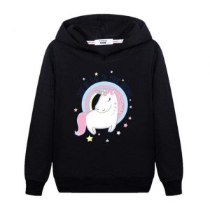 sweat unicorn girl black 14 years old
