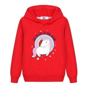 sweat unicorn girl red 14 years old not dear