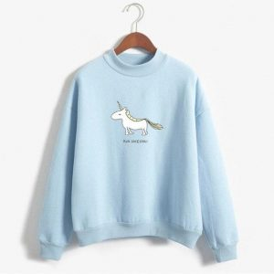 sweater unicorn blue run unicorn xxl