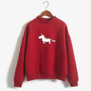 sweater unicorn red run unicorn xxl sweater unicorn
