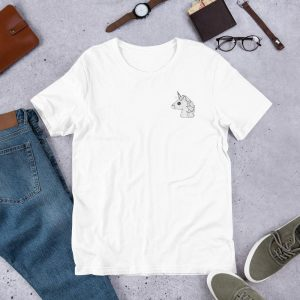 t shirt emoji unicorn embroidered 3xl at sell