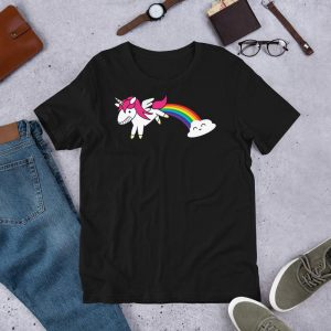 t shirt unicorn bow in sky 3xl price