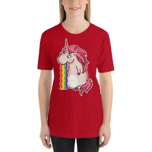 t shirt unicorn vomit bow in sky 3xl