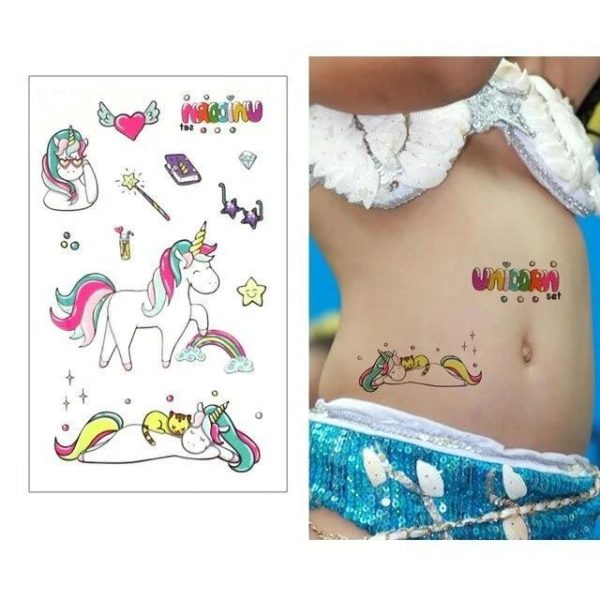 tattoo ephemeral unicorn bow in sky at sell