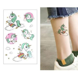 tattoo ephemeral unicorn color price