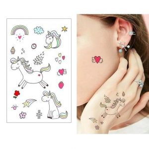 tattoo ephemeral unicorn discreet price
