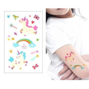 tattoo temporary unicorn child price
