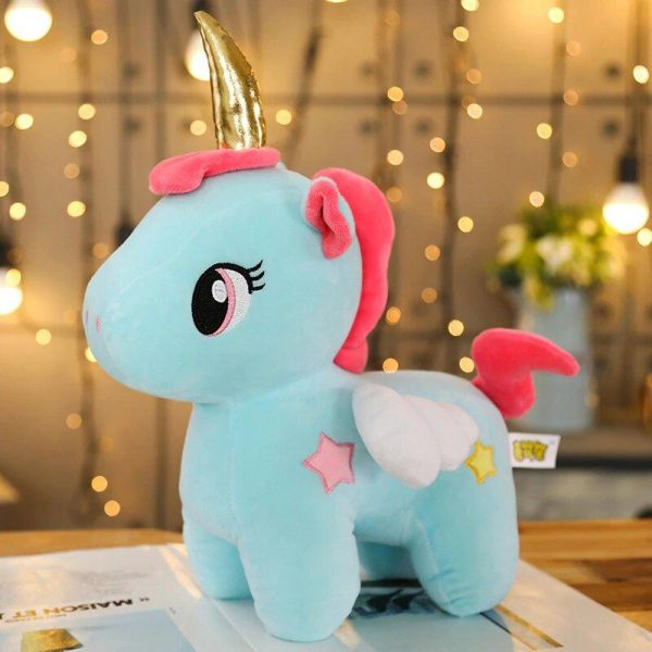teddy bear unicorn blue 40 cm