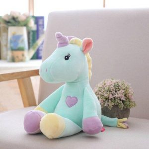 teddy unicorn blue 32 cm