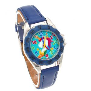 watch unicorn little girl blue dark